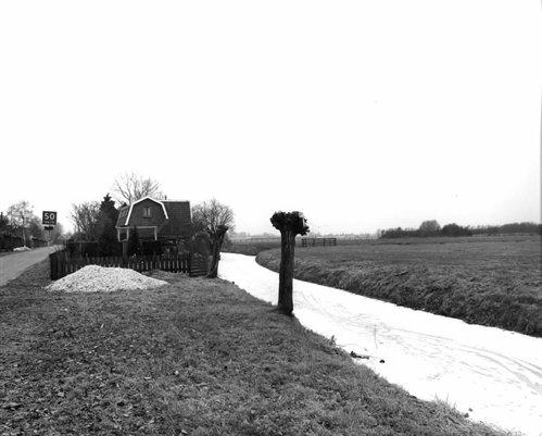 Groenedijk 1996 een paar jaar voor de start van de bouw van Leidsche Rijn. Op de achtergrond huisnummer 42. bron: Archief Utrecht