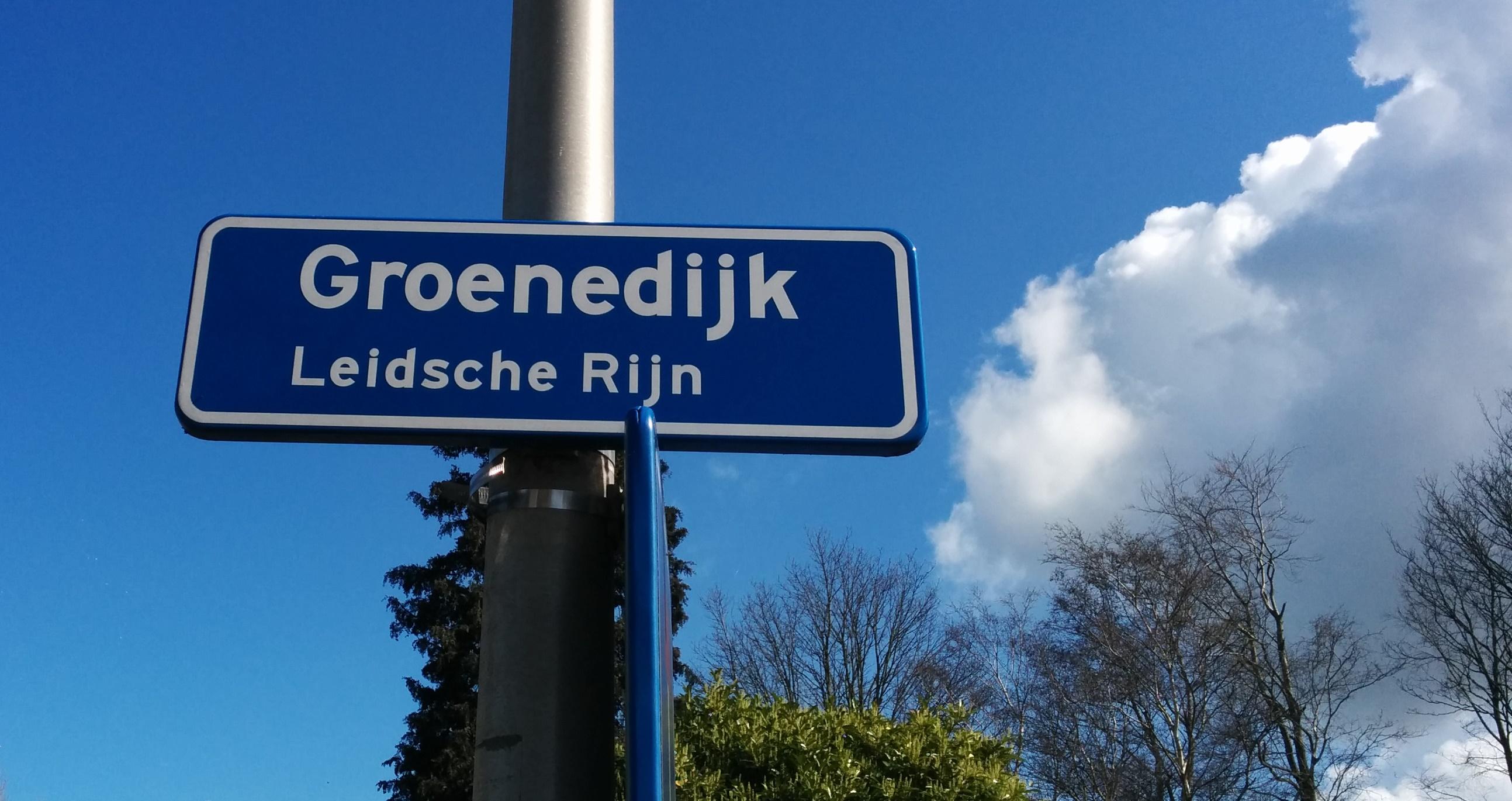 Groenedijk straatnaambord